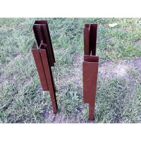 Угловой металлический элемент для грядки 300 мм